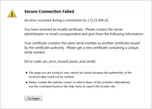 Error code: sec_error_reused_issuer_and_serial