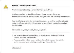 Error code: sec_error_reused_issuer_and_serial