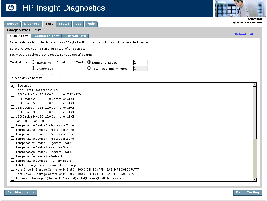 HP Insight Diagnostics Offline Edition Driver for Windows 10