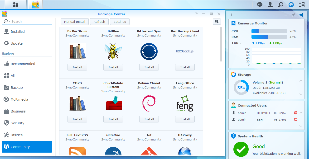 Adding packages from SynoCommunity repository for Synology